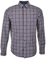 Michael Kors Romeo Check Shirt Burgundy