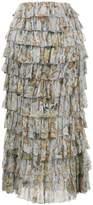 Zimmermann Silk Painted Heart Ra Ra Skirt