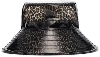 Maison Michel Charlotte leopard print bucket hat