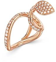Pasquale Bruni 18K Rose Gold Champagne & White Diamond Snake Ring