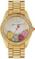 Betsey Johnson Women's Gold-Tone Bracelet Watch 40mm BJ00048-181