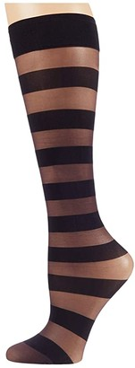Falke Minimal Line Sheer Knee Highs (Violet Onyx) Hose