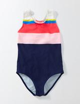 Boden Rainbow Striped Swimsuit