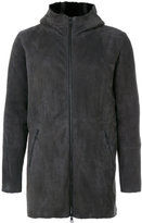 Giorgio Brato panelled hooded coat - men - Sheep Skin/Shearling - 50