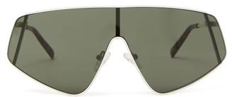 Le Specs Bladestunner Metal Flat-top Sunglasses - Womens - Khaki