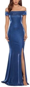 Xscape Evenings Metallic Off-The-Shoulder Gown