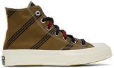 Converse Tan and Burgundy Chuck 70 High Sneakers
