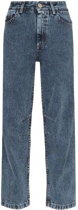 Matthew Adams Dolan Faded-Effect High-Rise Jeans