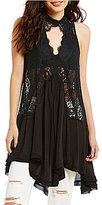 Free People Woven Tell Tale Heart Lace Tunic