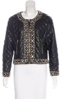 Saks Fifth Avenue Vegan Leather Embellished Jacket