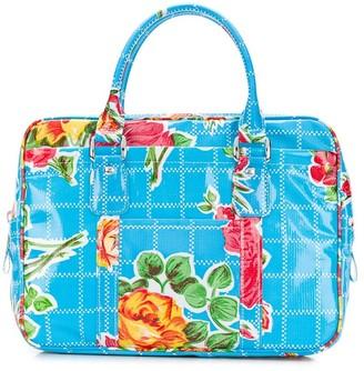 Comme des Garcons Floral Print Zip-Up Tote Bag