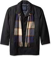 Tommy Hilfiger Men's Big Wool Melton Walking Coat with Detachable Scarf