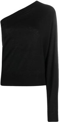 IRO One-Shoulder Cashmere Jumper