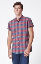 RVCA Akasa Plaid Short Sleeve Button Up Shirt