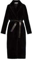 Inès & Marèchal Boulevard shawl-collar shearling coat