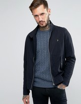 Farah Harrington Jacket In Black Cotton