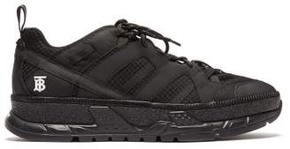 Burberry Rs5 Low Top Mesh And Nubuck Trainers - Mens - Black
