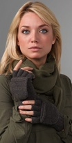 Cashmere Fingerless Gloves with Mitten Cover
