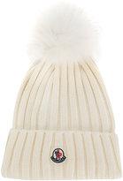 Moncler classic knitted beanie hat - women - Fox Fur/Virgin Wool - One Size