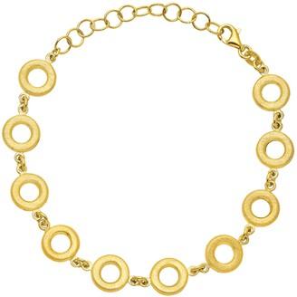 Italian Silver 14K Yellow Gold-Plated Circle Bracelet, 7.8g