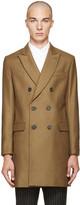 Ami Alexandre Mattiussi Tan Wool Double-breasted Coat