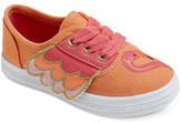 Cat & Jack Toddler Girls' Mel Flamingo Lace Up Canvas Sneakers Cat & Jack - Coral