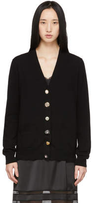 Marc Jacobs Black The Jewelled Button Cardigan