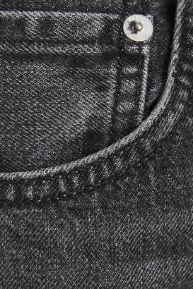 Rag & Bone Maya Cropped Chain-embellished High-rise Straight-leg Jeans