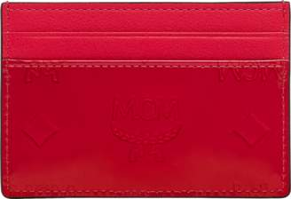 MCM Card Case In Monogram Patent Leather