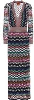 Missoni Striped Crochet-knit Dress