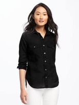 Old Navy Relaxed Gauze Utility Shirt for Women