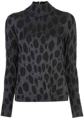 Akris Punto cheetah pattern jumper
