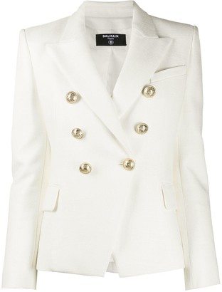 Balmain Double-Breasted Textured Blazer