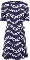 Warehouse Chain Print Flippy Dress