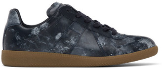 Maison Margiela Navy Painted Replica Sneakers