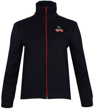 Gucci Navy Cherry Logo Track Jacket