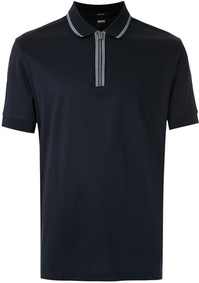HUGO BOSS Zipped Polo Shirt
