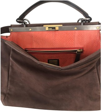 Fendi Peekaboo Brown Leather Handbags