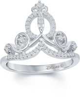 FINE JEWELRY Enchanted by Disney 1/6 C.T. T.W. Diamond Cinderella Ring In Sterling Silver