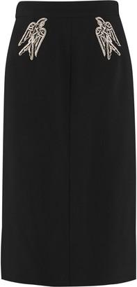 N°21 N.21 Stretch Pencil Skirt With Zip