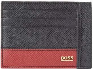 BOSS Contrast Block Leather Cardholder