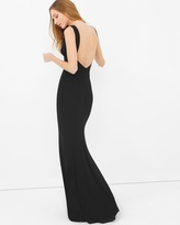 White House Black Market Deep V-Neck Gown