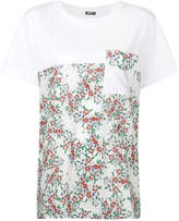 Jil Sander Navy blocked floral T-shirt