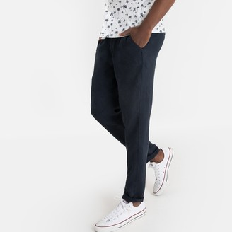 """La Redoute Collections Straight Linen Trousers, Length 31.5"""""""