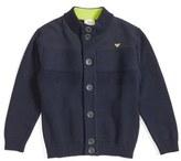 Armani Junior Boy's Cotton & Wool Cardigan