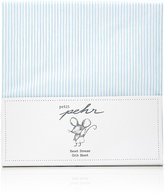 PetitPehr Pencil-Striped Crib Sheet-BLUE