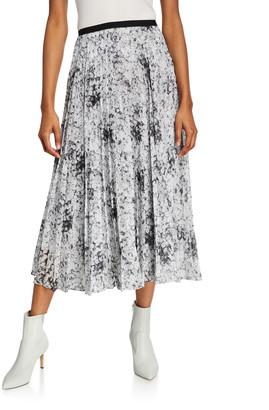 ADAM by Adam Lippes Floral Print Midi Skirt