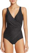 Miraclesuit Pin Point Oceanus One Piece Swimsuit