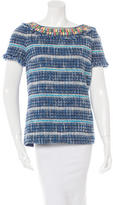 Tory Burch Woven Embellished Top