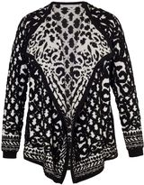House of Fraser Chesca BlackIvory Jacquard Knitted Cardigan